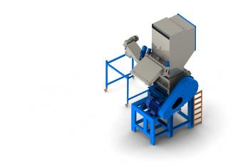 Granulator for plastics recycling